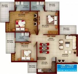 1625 sqft, 3 bhk Apartment in Samridhi Luxuriya Avenue Sector 150, Noida at Rs. 79.0000 Lacs