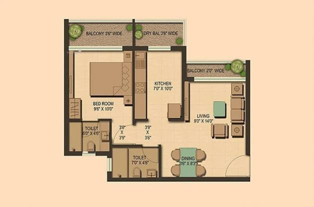 750 sqft, 1 bhk Apartment in Ahuja Prasadam Ambernath East, Mumbai at Rs. 31.9711 Lacs