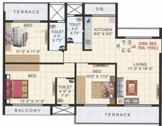 1530 sqft, 3 bhk Apartment in Aaron Kasturi Heritage Kharghar, Mumbai at Rs. 1.4200 Cr
