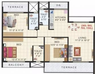1530 sqft, 3 bhk Apartment in Aaron Kasturi Heritage Kharghar, Mumbai at Rs. 1.4000 Cr