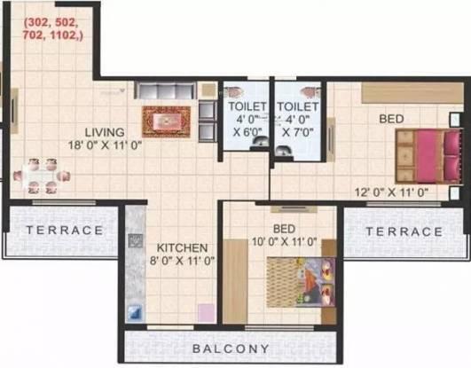 1155 sqft, 2 bhk Apartment in Aaron Kasturi Heritage Kharghar, Mumbai at Rs. 1.1500 Cr