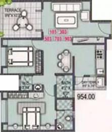 954 sqft, 2 bhk Apartment in Sankla Satyam Shivam Sundaram Manjari, Pune at Rs. 44.0000 Lacs