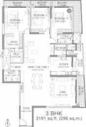 3191 sqft, 3 bhk Apartment in Godrej Platinum Hebbal, Bangalore at Rs. 3.5000 Cr