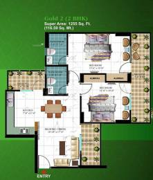1255 sqft, 2 bhk Apartment in Arocon Golf Ville Crossing Republik, Ghaziabad at Rs. 47.0000 Lacs