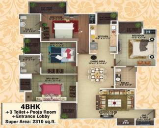 2310 sqft, 4 bhk Apartment in SVP The Imperial Gulmohur Vasant Nehru Nagar 2, Ghaziabad at Rs. 1.3500 Cr