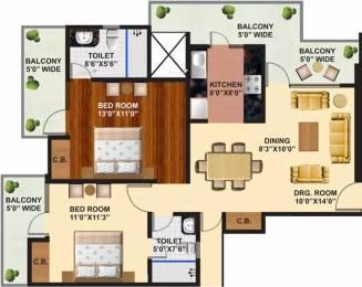 1260 sqft, 2 bhk Apartment in Arihant Ambience Crossing Republik, Ghaziabad at Rs. 43.0000 Lacs