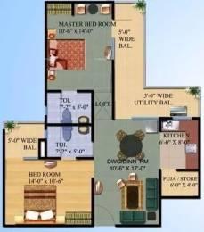 1105 sqft, 2 bhk Apartment in Ajnara Gen X Crossing Republik, Ghaziabad at Rs. 9000