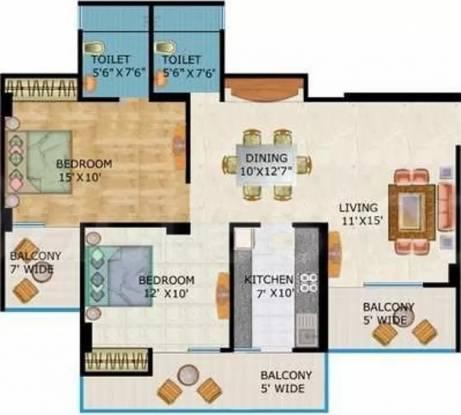1270 sqft, 2 bhk Apartment in Crossings Infra Crossing Republik, Ghaziabad at Rs. 11000