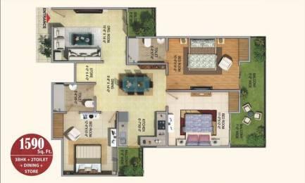 1590 sqft, 3 bhk Apartment in Sarvottam La Royale Shakti Khand, Ghaziabad at Rs. 81.0000 Lacs