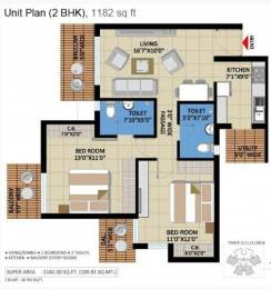 1182 sqft, 2 bhk Apartment in Builder Project Noida Extn, Noida at Rs. 40.0000 Lacs
