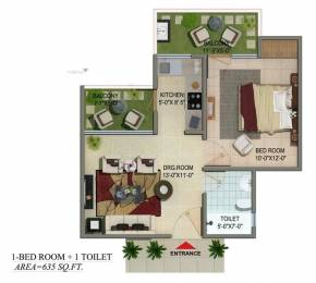 635 sqft, 1 bhk Apartment in Builder Project Noida Extn, Noida at Rs. 24.0000 Lacs