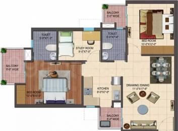 1095 sqft, 2 bhk Apartment in Cosmos Shivalik Homes 2 Sector 16 Noida Extension, Greater Noida at Rs. 34.0000 Lacs