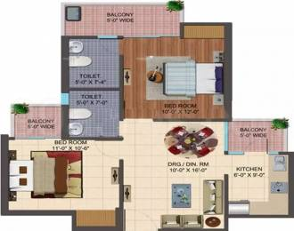 960 sqft, 2 bhk Apartment in Cosmos Shivalik Homes 2 Sector 16 Noida Extension, Greater Noida at Rs. 30.6800 Lacs