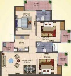 1285 sqft, 3 bhk Apartment in Cosmos Shivalik Homes 2 Sector 16 Noida Extension, Greater Noida at Rs. 34.9900 Lacs
