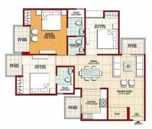 1510 sqft, 3 bhk Apartment in Builder Project Indirapuram, Ghaziabad at Rs. 78.5200 Lacs