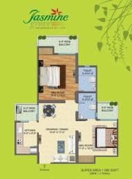 1095 sqft, 2 bhk Apartment in Builder Project NH 24 Highway, Ghaziabad at Rs. 31.0000 Lacs