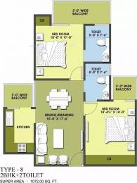 1072 sqft, 2 bhk Apartment in MR Delhi 99 Indraprastha Yojna, Ghaziabad at Rs. 31.0000 Lacs