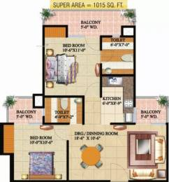 1015 sqft, 2 bhk Apartment in Supertech Livingston Crossing Republik, Ghaziabad at Rs. 33.0000 Lacs