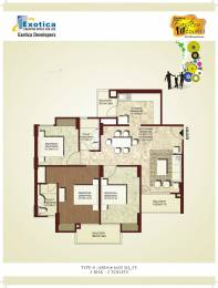 1635 sqft, 3 bhk Apartment in Exotica Eastern Court Crossing Republik, Ghaziabad at Rs. 56.0000 Lacs
