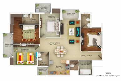 1890 sqft, 3 bhk Apartment in Builder Project Kaushambi, Ghaziabad at Rs. 1.3646 Cr