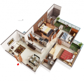1425 sqft, 3 bhk Apartment in MKS Infratech La Royale Shakti Khand, Ghaziabad at Rs. 73.9575 Lacs
