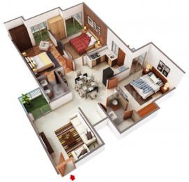 1560 sqft, 3 bhk Apartment in MKS Infratech La Royale Shakti Khand, Ghaziabad at Rs. 80.9640 Lacs