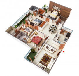 2615 sqft, 4 bhk Apartment in MKS Infratech La Royale Shakti Khand, Ghaziabad at Rs. 1.3572 Cr