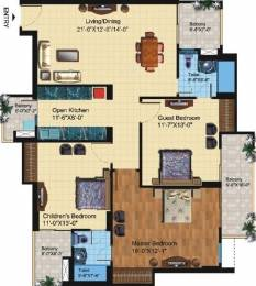 1700 sqft, 3 bhk Apartment in Paramount Symphony Crossing Republik, Ghaziabad at Rs. 60.0000 Lacs