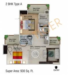 930 sqft, 2 bhk Apartment in Supertech CapeTown Sector 74, Noida at Rs. 46.0000 Lacs