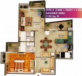 1195 sqft, 2 bhk Apartment in MSS Bliss Homes Govindpuram, Ghaziabad at Rs. 32.6000 Lacs