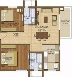 1355 sqft, 2 bhk Apartment in Prestige Ivy League Hitech City, Hyderabad at Rs. 96.9800 Lacs