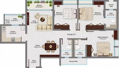 1491 sqft, 3 bhk Apartment in TATA Amantra Bhiwandi, Mumbai at Rs. 1.1183 Cr