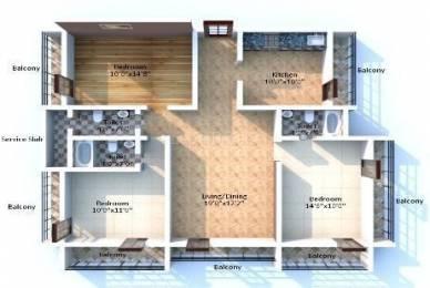 728 sqft, 3 bhk Apartment in Raj Arcades and Enclaves Shivganga Kandivali West, Mumbai at Rs. 1.3400 Cr