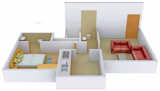 640 sqft, 1 bhk Apartment in Rosa Gardenia Thane West, Mumbai at Rs. 65.0000 Lacs