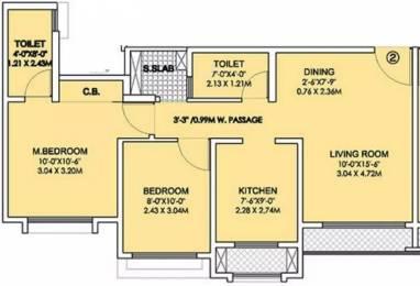 831 sqft, 2 bhk Apartment in Rustomjee Urbania Atelier Thane West, Mumbai at Rs. 21000