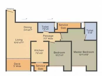 1170 sqft, 2 bhk Apartment in Rustomjee Urbania Azziano Thane West, Mumbai at Rs. 1.2500 Cr