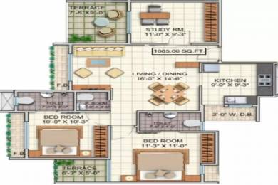 1085 sqft, 2 bhk Apartment in Dheeraj Jade Residences Wagholi, Pune at Rs. 60.0000 Lacs