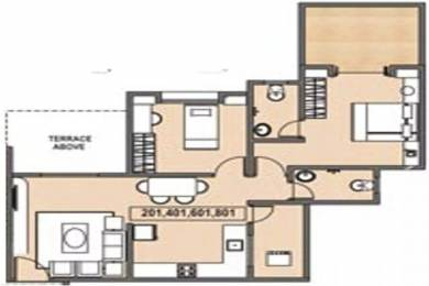 929 sqft, 2 bhk Apartment in Windsor Maple Woodz Wagholi, Pune at Rs. 41.0000 Lacs