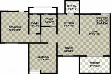 911 sqft, 2 bhk Apartment in Sukhwani Palms Wagholi, Pune at Rs. 41.0000 Lacs