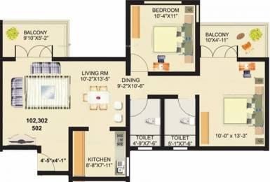981 sqft, 2 bhk Apartment in Venkateshwara Fragrancia Koregaon Park, Pune at Rs. 1.1500 Cr