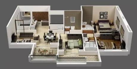 1645 sqft, 3 bhk Apartment in Eklavya Ekaika Kharadi, Pune at Rs. 1.1000 Cr