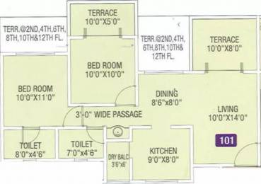 992 sqft, 2 bhk Apartment in Kwality Vrindavan Heights Hadapsar, Pune at Rs. 59.0000 Lacs