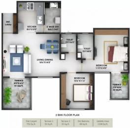 1208 sqft, 2 bhk Apartment in Prithvi Presidio Hadapsar, Pune at Rs. 88.0000 Lacs
