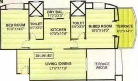 1117 sqft, 2 bhk Apartment in Vijaydeep Deccan Gold Kharadi, Pune at Rs. 72.0000 Lacs