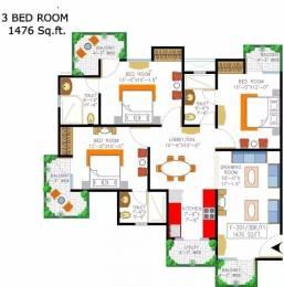 1476 sqft, 3 bhk Apartment in Rishabh Cloud9 Towers Shakti Khand, Ghaziabad at Rs. 72.0000 Lacs