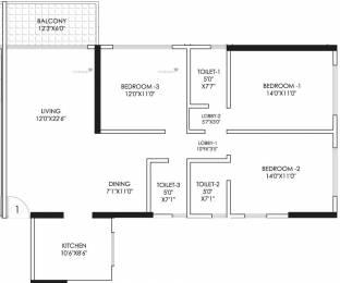 1503 sqft, 3 bhk Apartment in Prima Upper East 97 Malad East, Mumbai at Rs. 1.8788 Cr