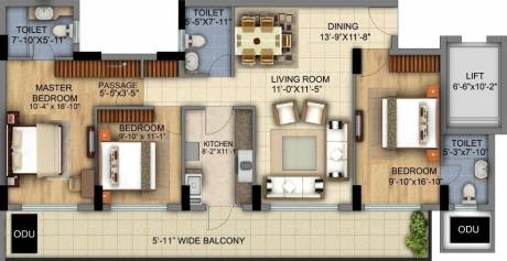 1930 sqft, 3 bhk Apartment in DLF The Skycourt Sector 86, Gurgaon at Rs. 1.3500 Cr
