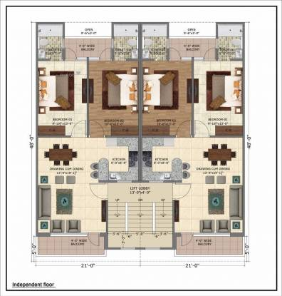 1156 sqft, 2 bhk Apartment in APS Highland Park Bhabat, Zirakpur at Rs. 32.6000 Lacs