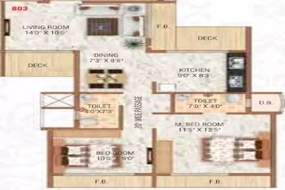 1135 sq ft 2BHK 2BHK+2T (1,135 sq ft) Property By Bhoomi Enterprises In Krishna Heights, Ulwe