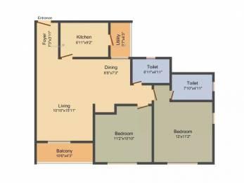 1099 sqft, 2 bhk Apartment in TATA Ariana Kalinga Nagar, Bhubaneswar at Rs. 56.2361 Lacs